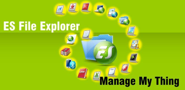 ES file explorer app til Android