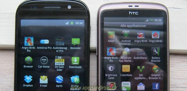 Google Nexus S vs HTC Desire test