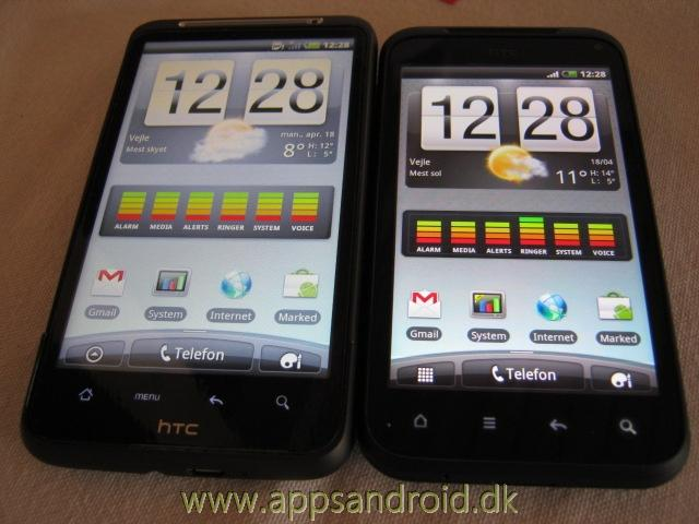 htc desire hd vs htc incredible s 4