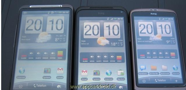 HTC Desire HD vs HTC Incredible S vs HTC Desire test