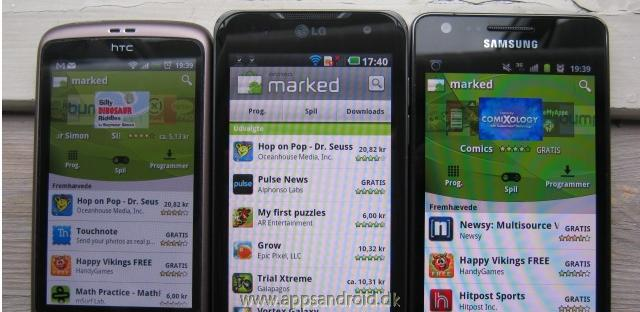 HTC Desire vs LG Optimus 2X vs Samsung Galaxy S 2 skrmtest