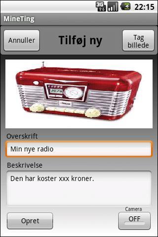 Mine_ting_Android_app_billede