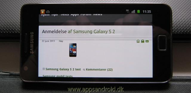 Samsung Galaxy S 2 anmeldelse