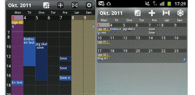 Pure Grid Calendar app