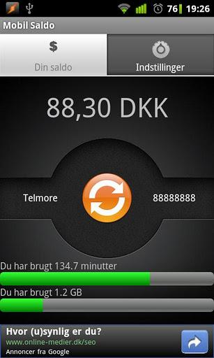 Mobil_saldo_app_til_Android