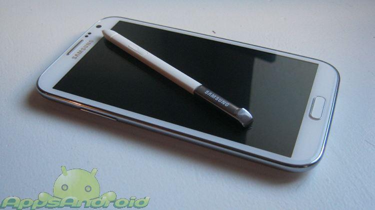 Samsung Galaxy Note 2 fronten