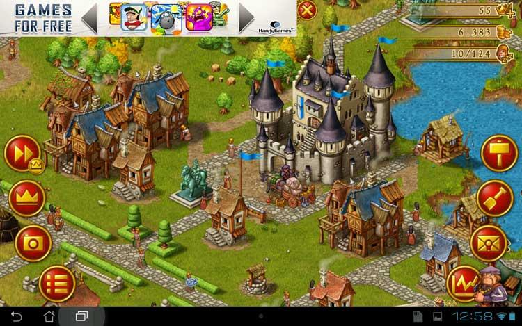 Townsmen-Android-spillet