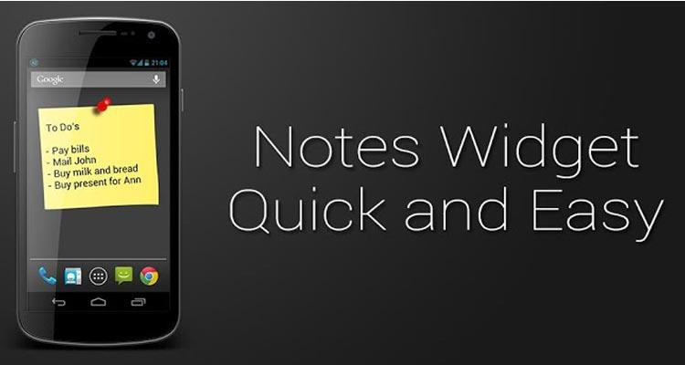 Notes-widgets