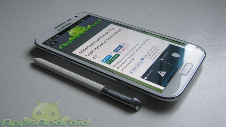Samsung Galaxy Note 2 anmeldelse