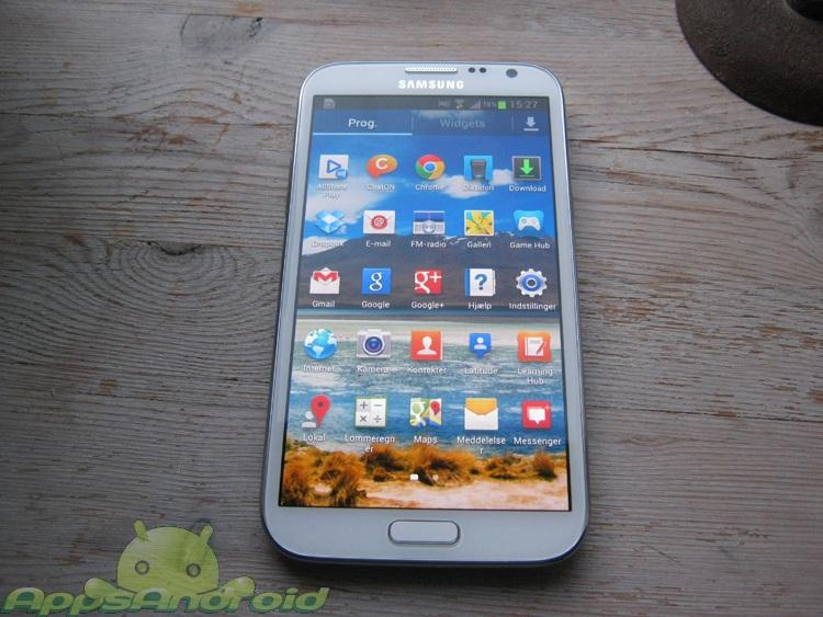 Samsung Galaxy Note 2 appdrawer
