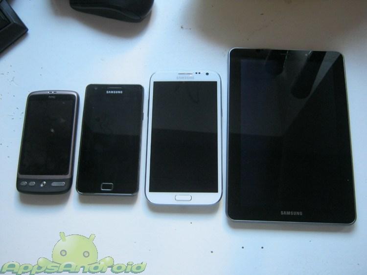Samsung Galaxy Note 2 sammenligning