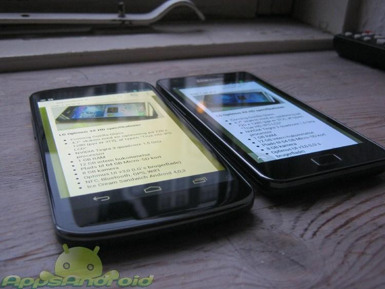 LG Nexus vs SGS2