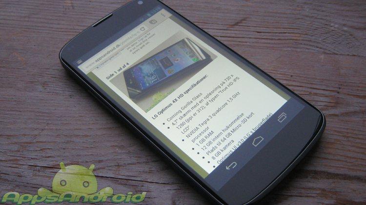 obilen Android bliver brugt til internet