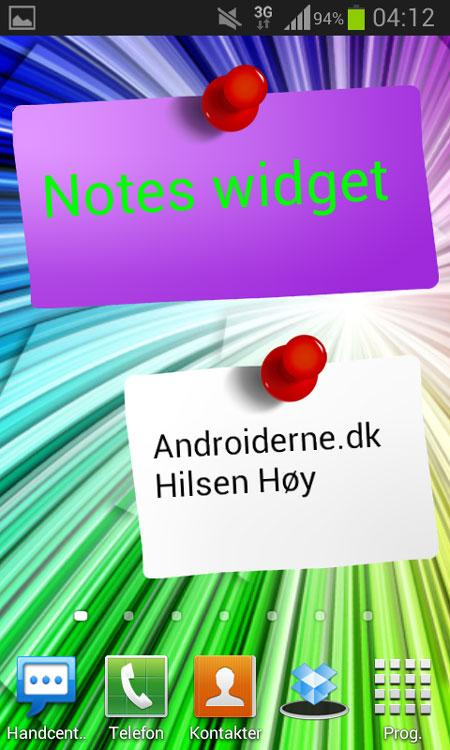 Android-widget-noter