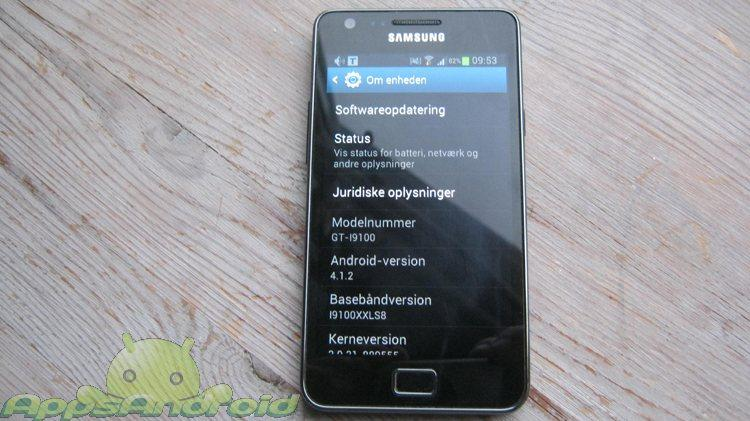 SGS2 Android jelly bean