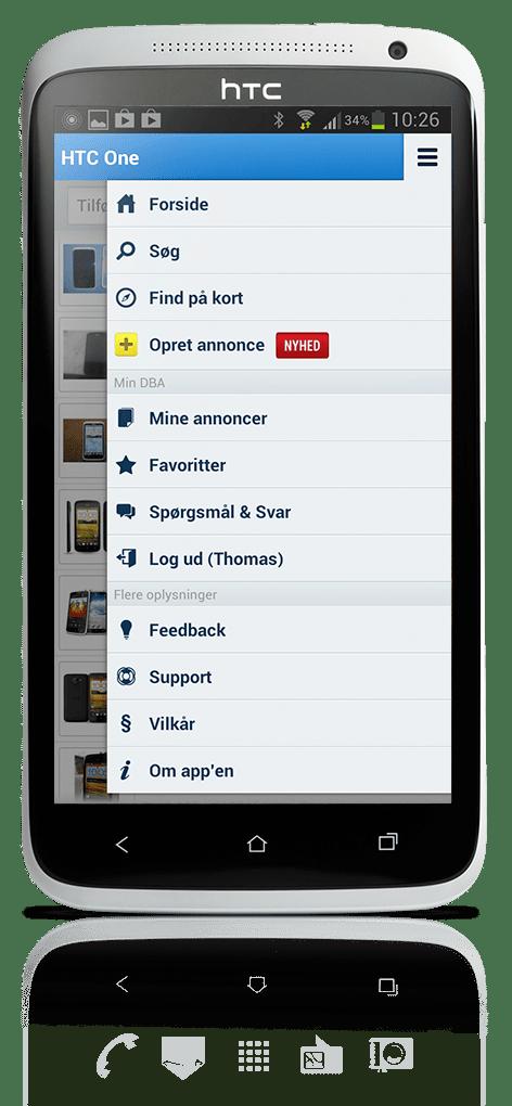 DBA Android NewMenu
