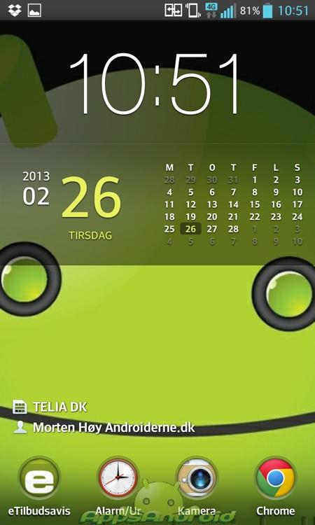 LG Optimus G lockscreen