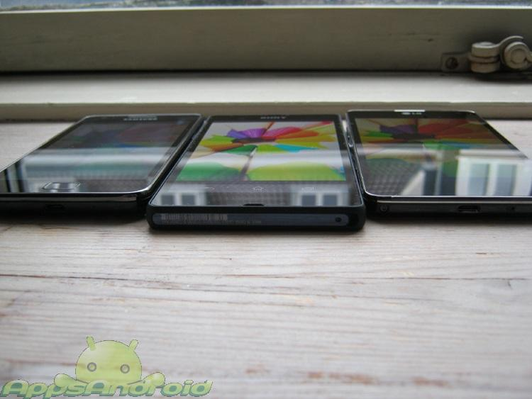 LG Optimus G vs Sony Xperia Z vs SGS2 7