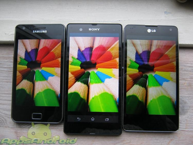 SGS2 vs Sony Xperia Z vs LG Optimus G 3
