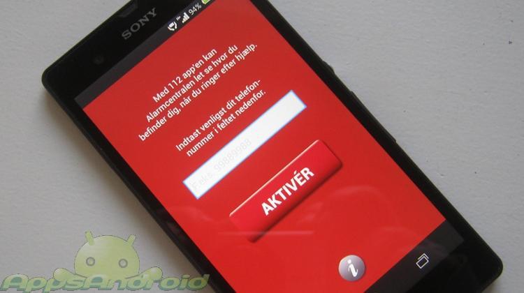 112 app til Android smartphones
