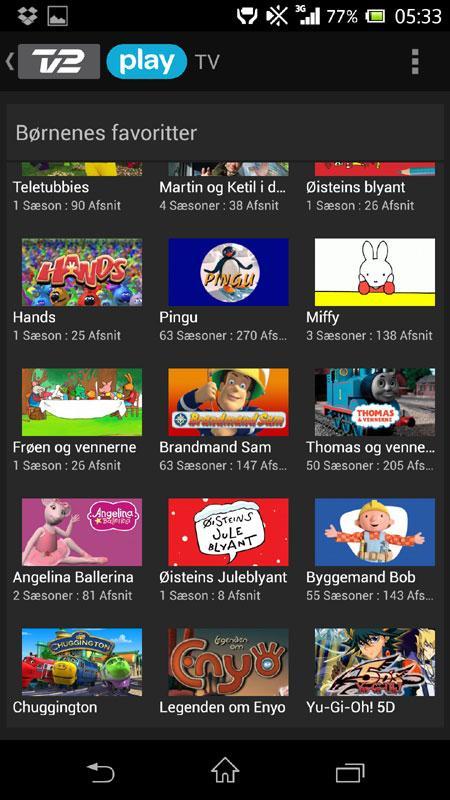 TV-2-Play-oversigt