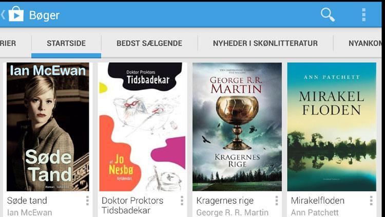 Bøger på Google Play i Danmark