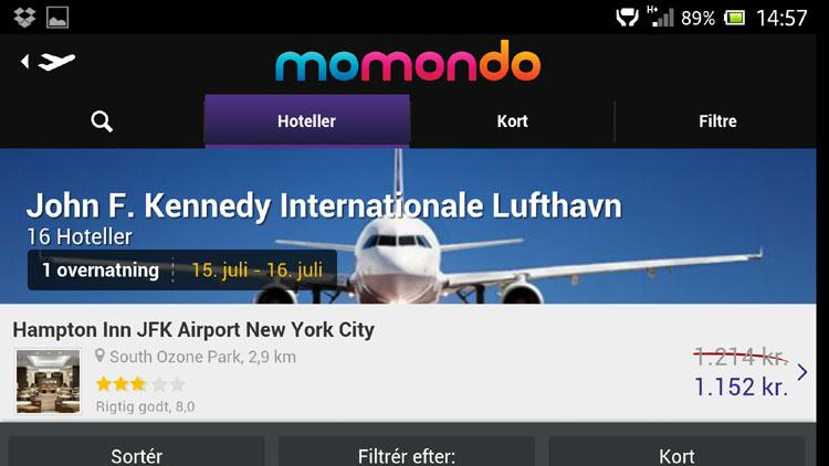 Momondo Android app