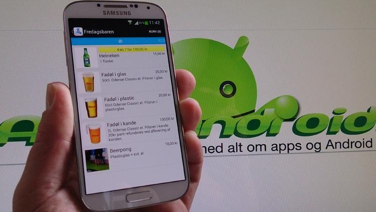 Zerved Android app til betaling