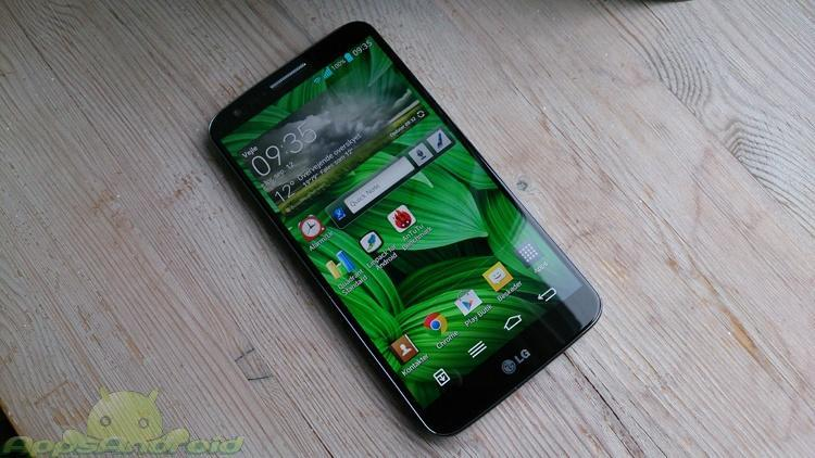 LG G2 on front