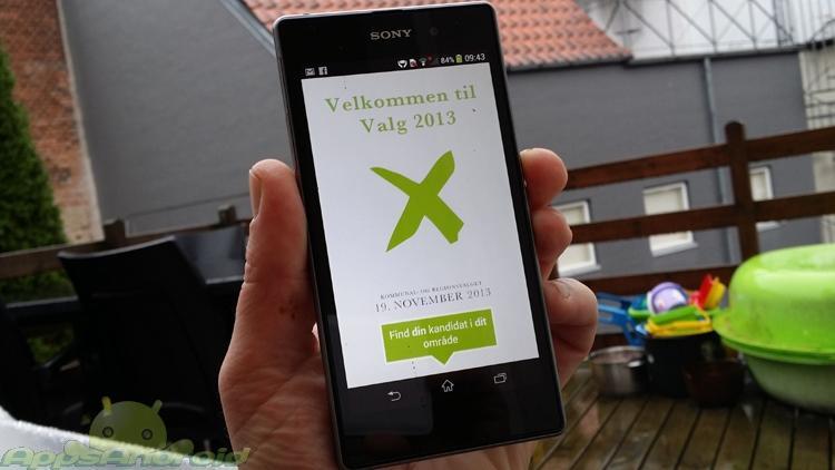Valg 2013 app