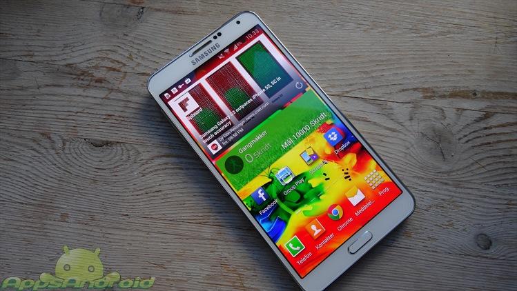 Samsung Galaxy Note 3 fronten
