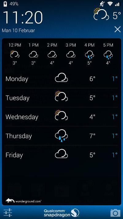 Snapdragon-Glance-vejr