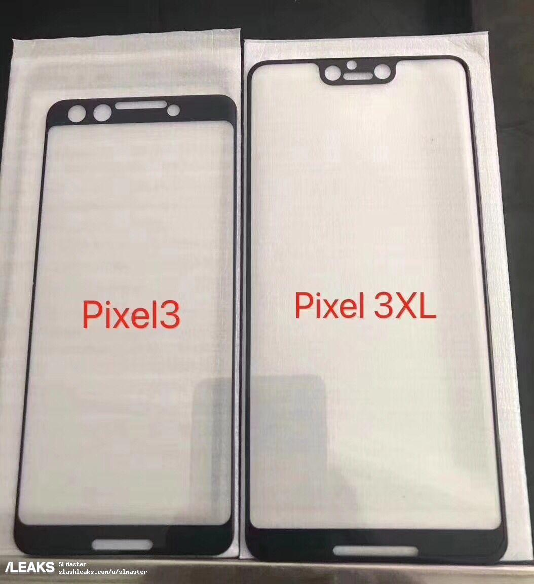 pixel 3 med notch i toppen